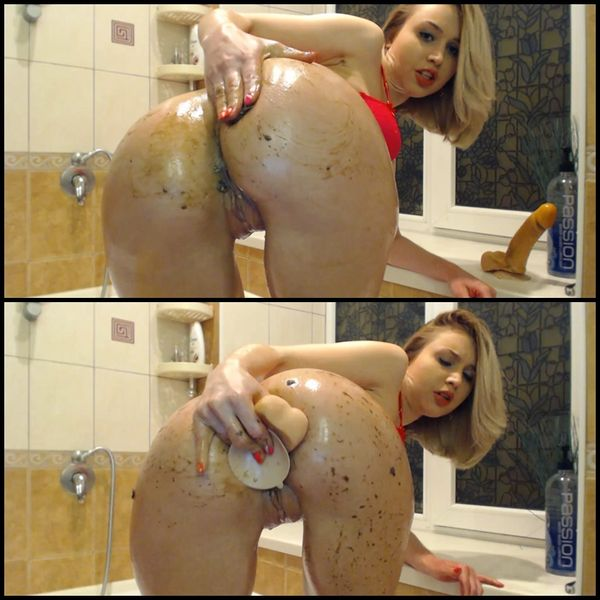Small shit after anal On shittytube