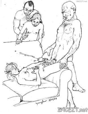 Taboo sex cartoon teaches son best