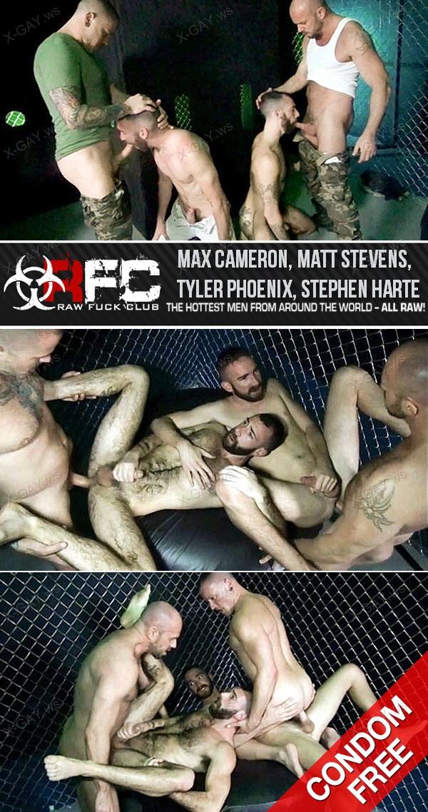 RawFuckClub: Gaytanamo 2, Scene 5: Breaking In New Prisoners (Max Cameron, Matt Stevens, Tyler Phoenix, Stephen Harte) (Bareback)