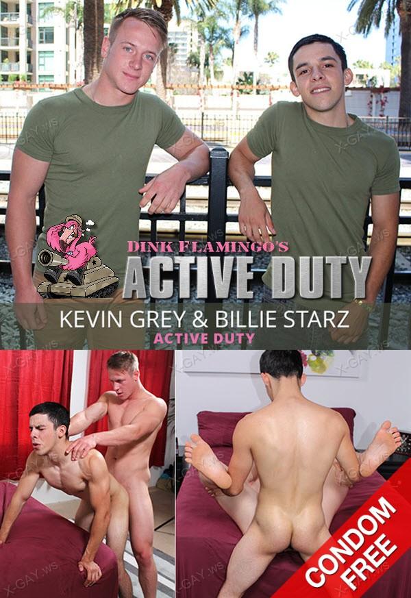 ActiveDuty: Kevin Grey, Billie Starz (Bareback Flip Fuck)