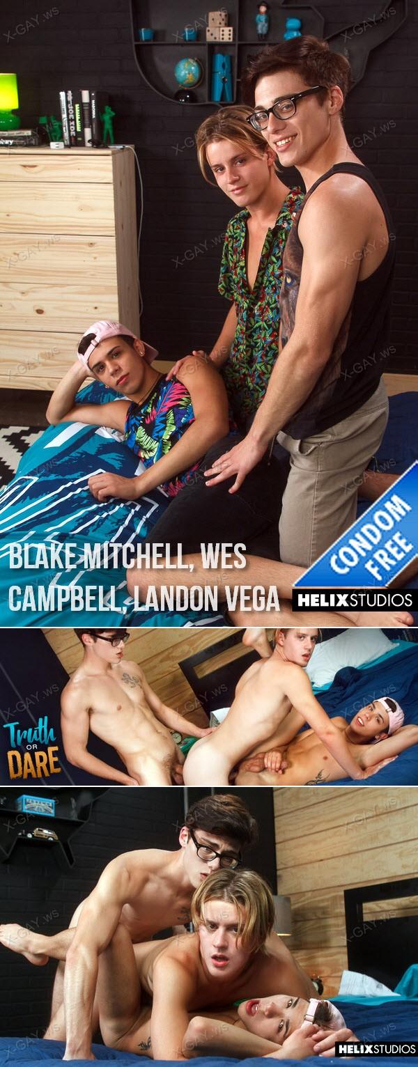 HelixStudios: Truth or Dare (Blake Mitchell, Wes Campbell, Landon Vega) (Bareback)