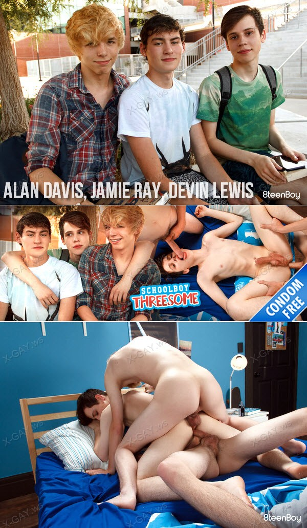8TeenBoy: Schoolboy Threesome (Alan Davis, Jamie Ray, Devin Lewis) (Bareback)
