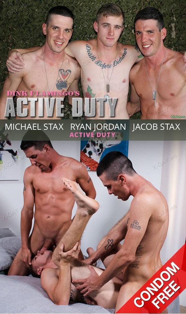ActiveDuty: Ryan Jordan, Michael Stax, Jacob Stax (Bareback)