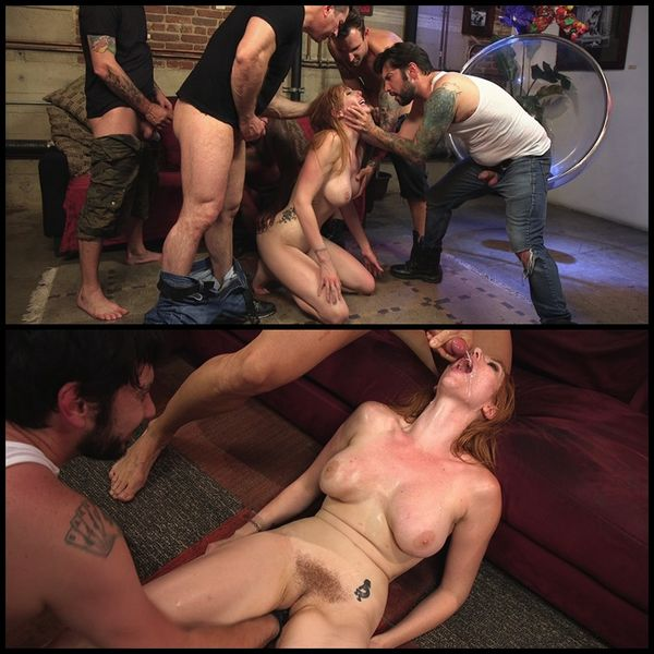 All Natural Redhead Lauren Phillips gets Double Anal from a Gang Bang | HD 720P | Sep 6, 2017