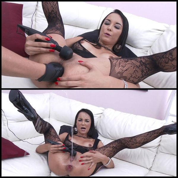 Francys Belle rough double anal with fisting, squirting & pissing