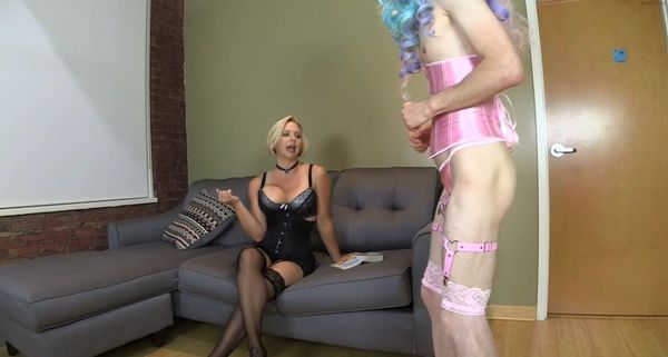 Brianna – Mother Encourages Sissified Son to Appreciate Stockings with Over Knee Spanking HD
