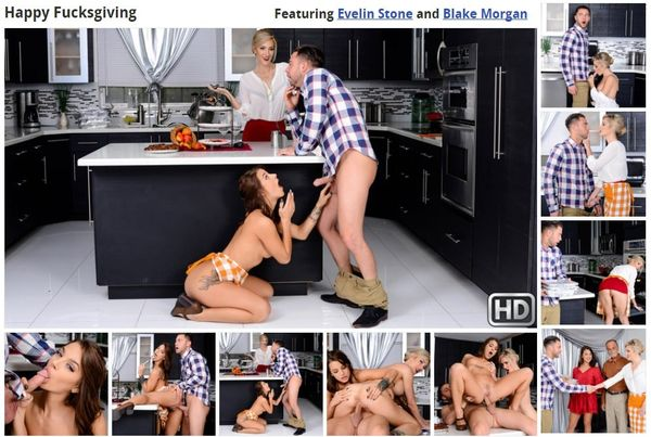 Evelin Stone & Blake Morgan – Happy Fucksgiving HD