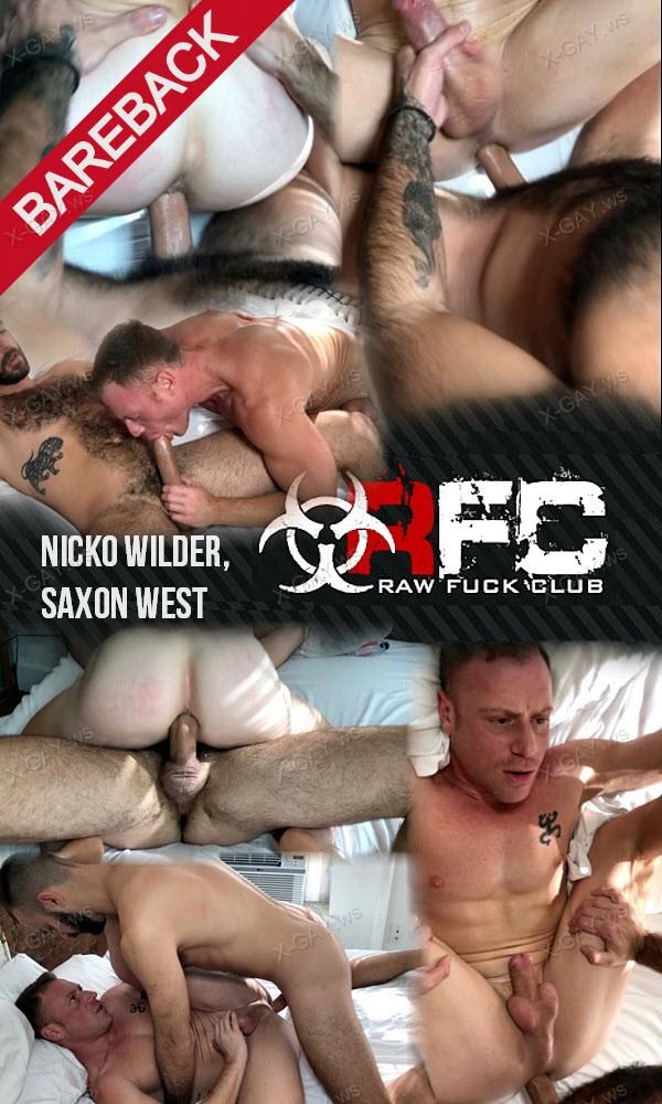 RawFuckClub: Nicko Wilder, Saxon West (Snake Charmer) (Bareback)