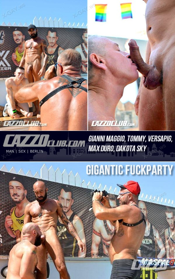 CazzoClub: Gianni Maggio, Tommy, Versapig, Max Duro, Dakota Sky (Gigantic Fuckparty)