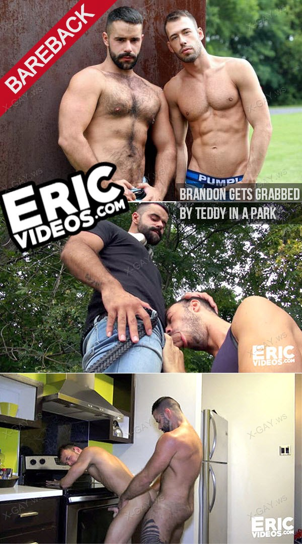 EricVideos: Brandon Gets Grabbed By Teddy In A Park (Bareback)