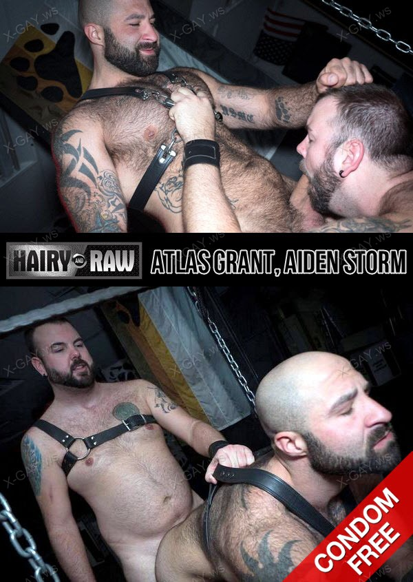 HairyAndRaw: Atlas Grant, Aiden Storm (Bareback)