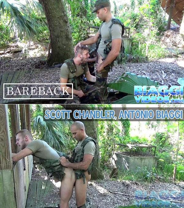 BiaggiVideos: Scott Chandler, Antonio Biaggi (Soldier Fantasy) (Bareback)