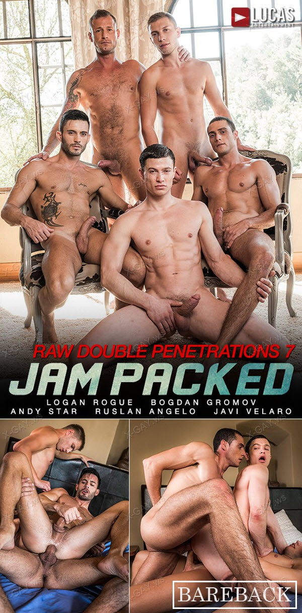 LucasEntertainment: Andy Star, Bogdan Gromov, Javi Velaro, Logan Rogue, Ruslan Angelo: Five-Man Bareback Orgy