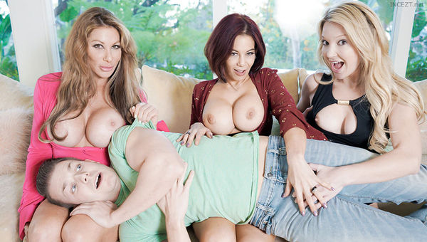 Farrah Dahl, Ryder Skye & Laura Bentley – The More Badmilfs The Better HD