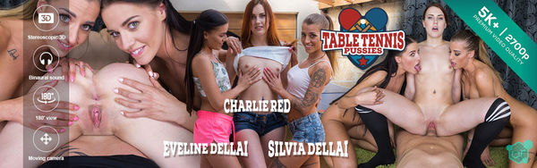 REAL TWINS Table Tennis Pussies – Charlie Red, Eveline Dellai, Silvia Dellai GearVR HD