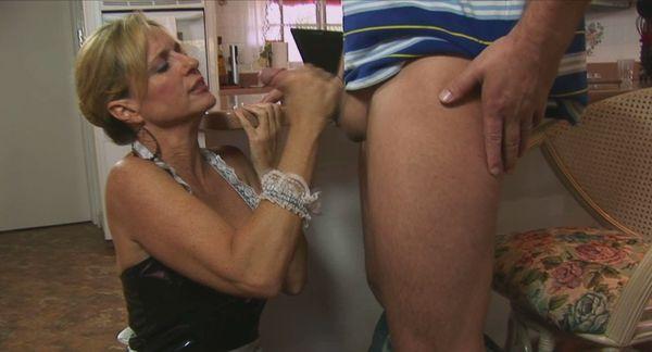 handjob french maid gives
