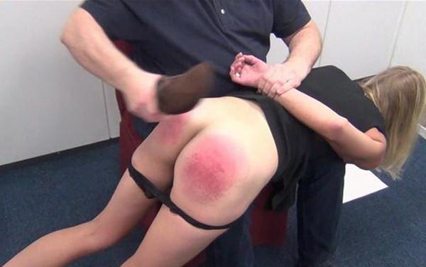 First spank than kiss, garage bolt pussy panties