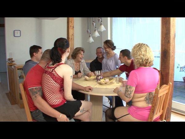 Taboo German Family Dinner Table Sex HD