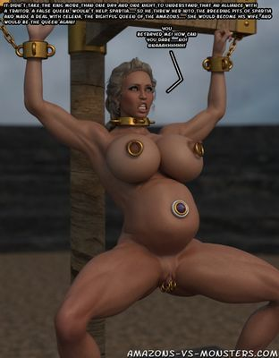 [3D Porn Comic] [Amazons-vs-Monsters] Spartian War [pregnant]