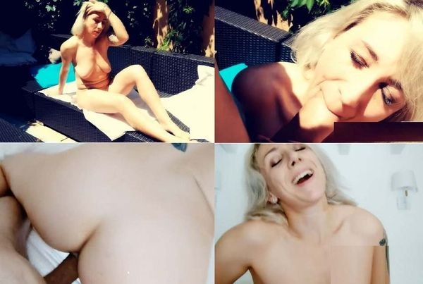 French Blonde Anal Outdoor