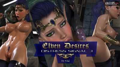 [3D Porn Comic] [HitmanX3Z] Elven Desires - Distress Signal Part 3 [alien]