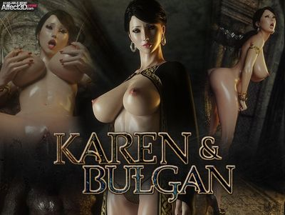 [3D Porn Comic] [Jared999D] Karen And Bulgan [monster]