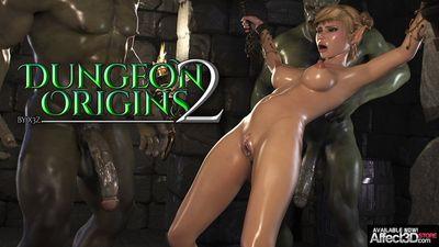 [3D Porn Comic] [HitmanX3Z] Dungeon Origins Part 1-3 [rape]