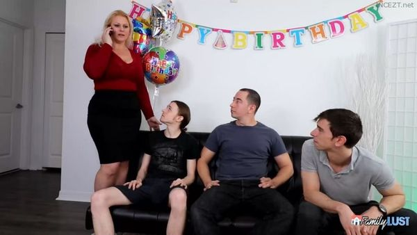 Mom's Birthday Gangbang – Selah Rain HD