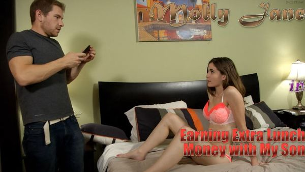 Molly Jane in Earning Extra Lunch Money with My Son HD