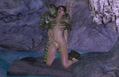 [3D Porn Comic] [DizzyDills] The Lagoon [monster]