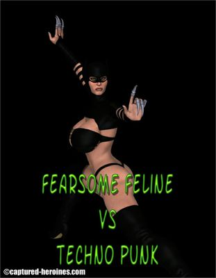[Captured Heroines] Fearsome Feline Vs Techno Punk Part 1-2 [3D Porn Comic] rape