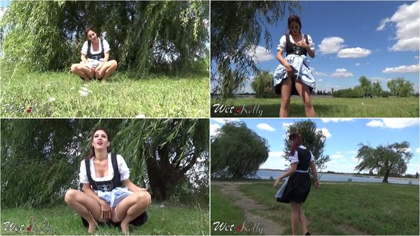 Flashing And Pee In Park Wearing Costume - Wet Kelly - FetishMania (483 MB)