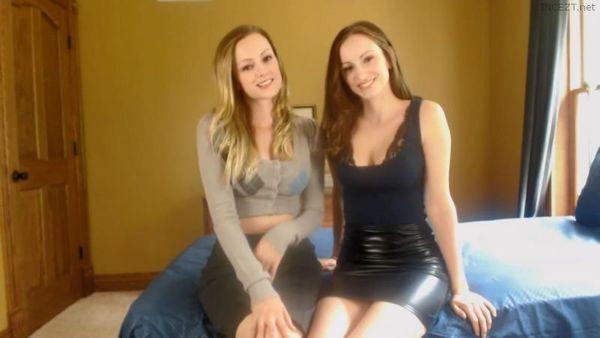 Twins Brooke and Vikki – Secretary Strip Tease 2-Twins HD