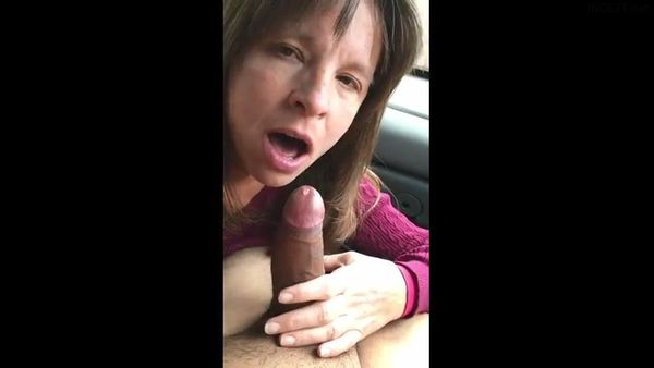Busty Blonde Mom Blowjob