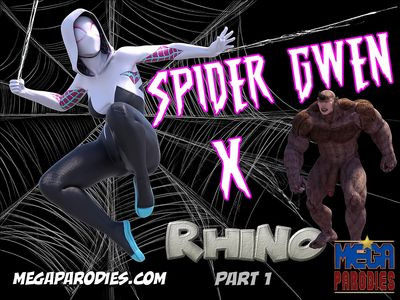 [MegaParodies] Spider Gwen X - Rhino Part 1 [3D Porn Comic] bodysuit