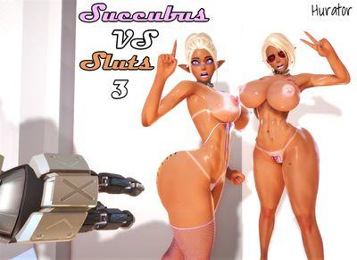 [Hurator] Succubus Vs Sluts Part 3 [3D Porn Comic] horse cock
