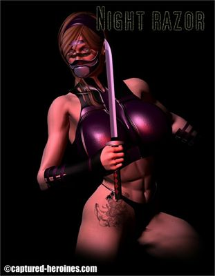 [Captured Heroines] Night Razor Part 1-5 [3D Porn Comic] kunoichi