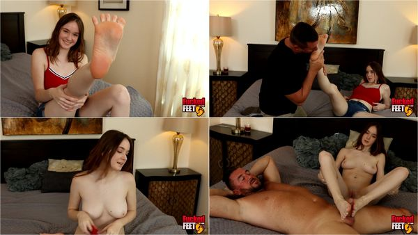 19 Year Old Gives Great Footjob [FuckedFeet] Hazel Moore (1080p)