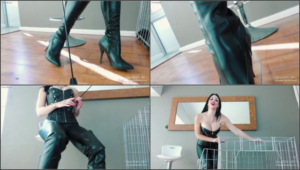 You, My Permanent Caged Boot Slave [FetishMania] Goddess Kim (1080p)