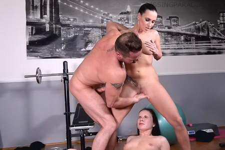 Gym Instruction – A Facial Mask of Golden Shower and White Spunk