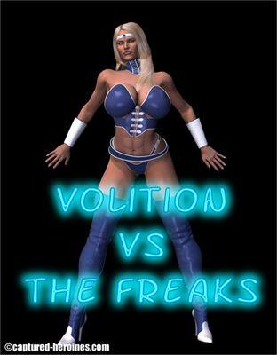 [Captured Heroines] Volition Vs The Freaks Part 1-6 [3D Porn Comic] rape