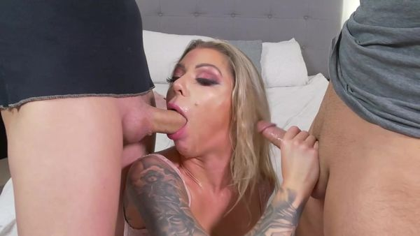 First Double Blowjob Ever W Cum Count - Karma RX - FetishMania (872 MB)