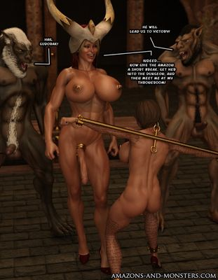 [Amazons-vs-Monsters] Attack of the Pack [3D Porn Comic] rape