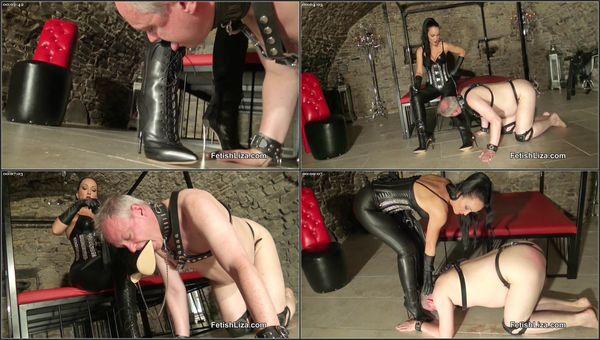 Flogged Boot Slut [FetishManiaOrg] Fetish Liza (294 MB)