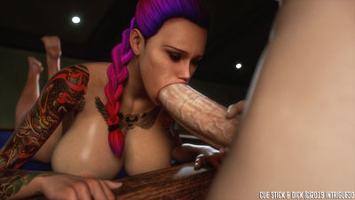 [Intrigue3D] Cue Stick and Dick [3D Porn Comic] futanari