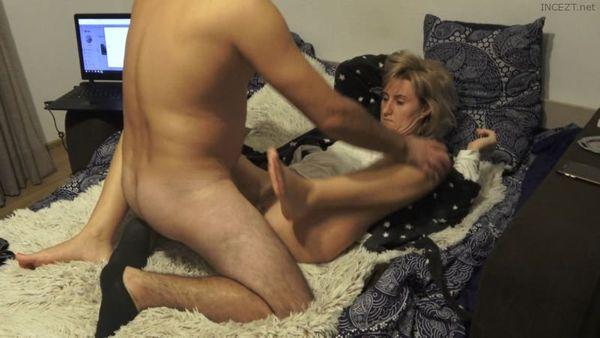Screamer StepMom Gets Her White Hairy Pussy Fucked 4k