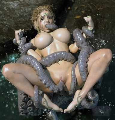 Art by G13D [3D Hentai Artwork] octopus