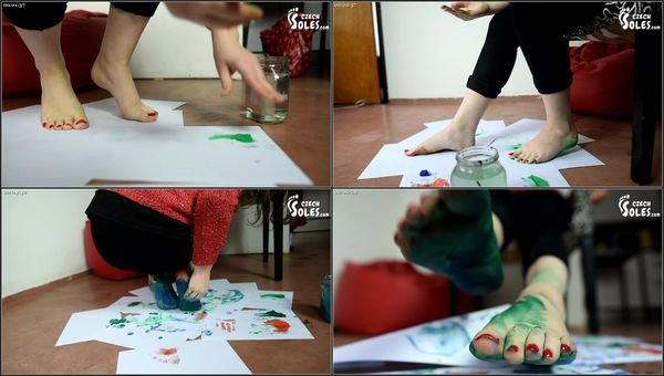 Foot And Soles Painting And Soleprints [CzechSoles] Anna (293 MB)