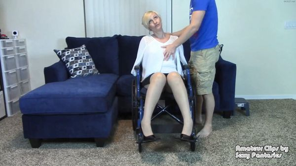 Blind Amputee Mom in Wheelchair Lets Son Grope and Fuck Her Paraplegic Legs Then Gives Blow Job – Brittany Lynn HD 1080p