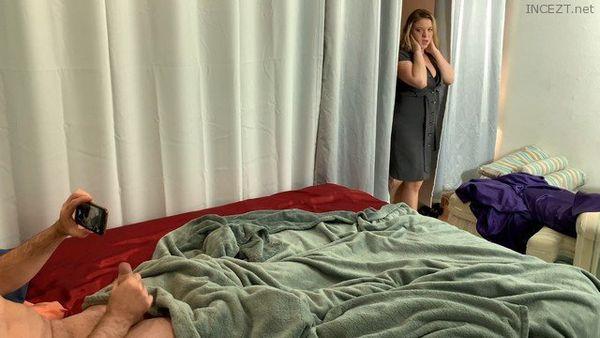 Mom caught son masturbating